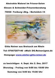 Friseur Bad Krozingen Ausstellungen Abstrakte Malerei Gitta Reiner