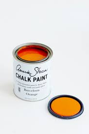 updating old laminated bedside tables with barcelona orange chalk