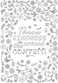 coloring pages on kindness acts of kindness coloring pages leafandbranch co