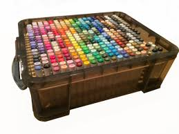 copic marker storage system holds 374 sketch ciao markers