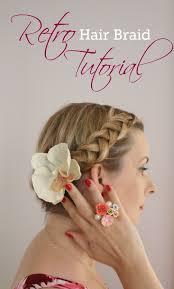 braided pinup hairstyles retro hair braids tutorial retro hair braid tutorials and retro