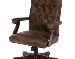 Pc Chair Design Ideas Desk Cool Brown Frosted Laminated Leather Tufted Office Chair