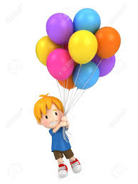 balloons that float 3d render of a floating kid with balloons stock photo picture and