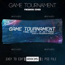 game tournament facebook cover game cover template and facebook