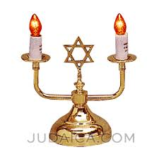 shabat candles electric shabbos candles in gold judaica