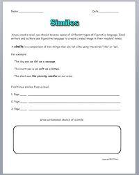 simile metaphor and personification worksheet worksheets