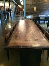 High Top Conference Table Dining Table High Top Reclaimed Wood Communal Table Modern