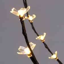 Lighted Twigs Home Decorating 6 Feet Cherry Blossom Lighted Tree Floor Lamp 200 Led Lights Warm