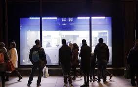 digital window touchscreen outdoor information kiosks