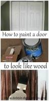 How To Stain Mohagany Doors Youtube by How To Paint A Plain White Door To Look Like Wood Debbiedoos