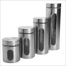 kitchen canisters black set of 8 vintage glass spice jars with cork lids storage jars mid