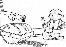 roley helps bob repair road bob builder colouring