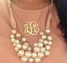 pearl monogram necklace 1000 ideas about monogram necklace silver on monogram