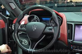 maserati steering wheel maserati levante steering wheel at the 2016 geneva motor show live