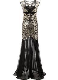 buy mermaid vintage 20s style gatsby flapper black long cocktail