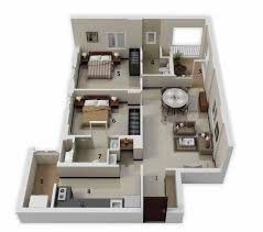 Floor Plan Of An Apartment 25 More 2 Bedroom 3d Floor Plans
