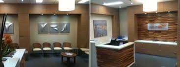 Timber Reception Desk Feature Wall In Randwick Tafe From Glenmar Custom Joinery