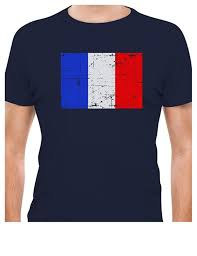 France Flag Images Printed Tee Shirt Design Vintage France Flag Retro French Style T