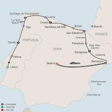 Madrid Map Lisbon Northern Spain U0026 Madrid Tour Globus