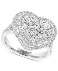 diamond heart ring effy pavé classica diamond heart ring 1 1 8 ct t w in 14k