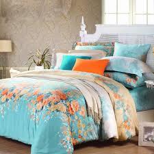 Comforter Orange Electric Blue Orange And White Spring Garden Images Colorful