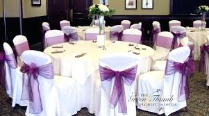 wedding chair covers and sashes purple wedding chair covers sashes and green thumb florist decor