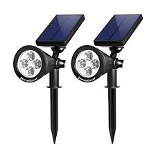 best outdoor solar spot lights top 10 best solar landscape spotlights in 2018 reviews