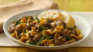 green bean and beef pasta supper recipe bettycrocker com