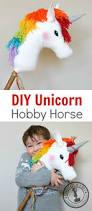 diy rainbow unicorn hobby horse adventure in a box