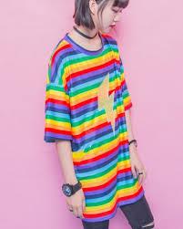 rainbow stripe t shirt dress for girls lightning long t shirts