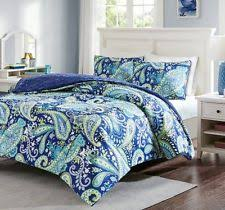 Blue Full Comforter Set Paisley Comforters And Bedding Sets Ebay