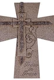 7 gray scroll design wall cross grow in grace 0 wall cross
