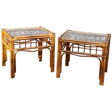 Outdoor Side Table Rattan Pair Of Vintage Rattan Side Tables In The Style Of Franco Albini