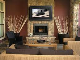 Mounting A Tv Over A Gas Fireplace by Stone Fireplace Designs With Tv Above Fireplace Ideas