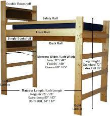 college loft bed free college dorm loft bed plans easy woodworking