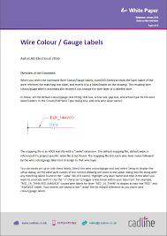 autocad electrical 2016 wire colour gauge labels u2013 cadline