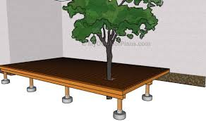 Free Outdoor Woodworking Project Plans by How To Build A Deck Around A Tree Myoutdoorplans Free