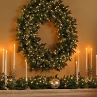 astounding images of large outdoor lighted wreath for