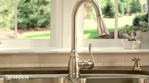 moen anabelle kitchen faucet shop moen anabelle spot resist stainless 1 handle pull kitchen