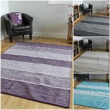 modern stripe reversible cotton rugs blue grey beige purple living