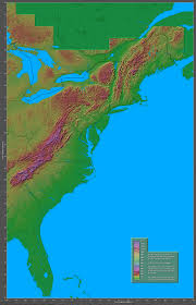 Southeastern Usa Map by Shaded Relief Maps Of The United States