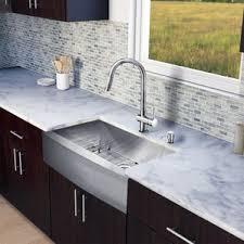 farmhouse faucet kitchen chrome kitchen sinks you ll wayfair
