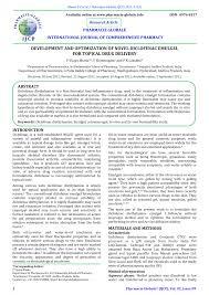 development and optimization of novel diclofenac emulgel for