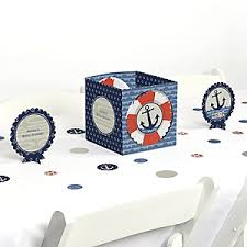 baby shower anchor theme neat design nautical baby shower centerpieces ahoy theme tags