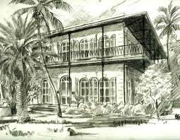 Hemingway House Key West Hemingway House In Key West Art By George K Salhofer