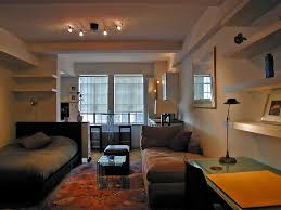 Studio Decorating Ideas by Excellent Small Studio Apartment Decor Double Bed White Floating
