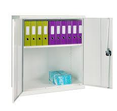 elite small double door white cupboard