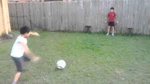 Soccer Net For Backyard by Backyard Football Play Soccer Goal Keeping Kicking Future Star