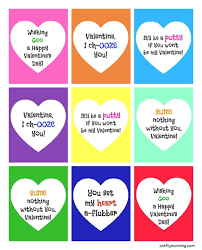 kid valentines slime valentines for kids free printable crafty morning