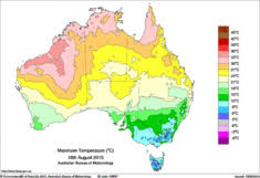 maps of recent past and average conditions bureau of meteorology